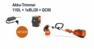 Husqvarna Akku-Trimmer 115iL inkl. BLi20 + QC80 (Akku+Ladegerät) Art. 967098804