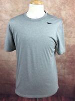Nike Dri-Fit  Crewneck Short Sleeve Athletic Work Out T-Shirt Gray Men's M