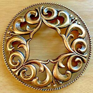 YANKEEE CANDLE Copper Toned SWIRLED Illuma Lid