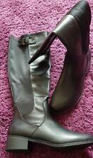 Ajvani Low Heel Boots Black Uk 6 Elastic zip