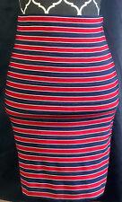 Band of Outsiders Boy. Red White Blue Stripes Mini Bodycon Skirt sz 4