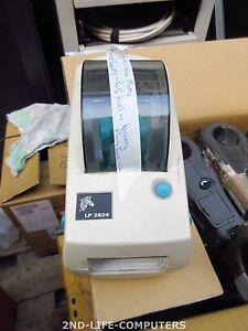 Zebra LP 2824 LP2824 NETWORK RJ-45 & RJ-11 Direct Thermal Label Printer NO PRINT