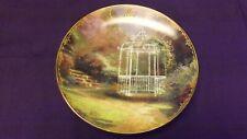 "Thomas Kinkade Simpler Times Calendar Plate May ""Lilac Gazebo"" 5 3/4"""