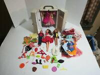 Vintage Barbie dolls Mattel SKIPPER & RICKY 1964 w/ Case Clothing Accessory lot