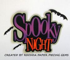 Halloween Spooky Night paper piecing for Premade Scrapbook Pages Die Cut Rhonda