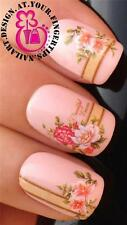 NAIL ART WATER TRANSFERS DECALS STICKERS ROSES FLOWER SMILE LINE FRENCH TIP #520