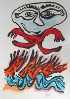 """Karel Appel """"Tantrika II"""" Original lithograph in colors on paper"""