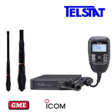 ICOM IC-450 5 watt UHF CB Radio with GME AE4704B Black Stubby 2.1dBi Antenna