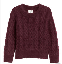ERDEM x H&M WOMEN'S SHORT Mohair PLUM Sweater size SMALL