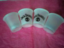 SET  OF  4  JACK  DANIEL'S  WHITE  PLASTIC  SHOT  CUPS.