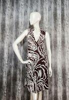 Diane Von Furstenberg DVF Vintage 100% Silk Sleeveless Wrap dress size US4/UK8