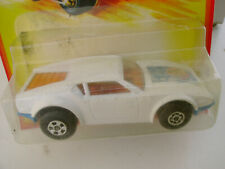 1980 MATCHBOX LESNEY SUPERFAST #8 WHITE DE TOMASO PANTERA IN DAMAGED PACKAGE