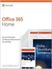 MS Office 365 Home 6 Nutzer 1 Jahr Abo Microsoft Office 365 DE EU 2019