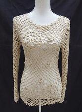 La Fee Maraboutee beige LG Ärmel Crochet/Holey Layering Pullover Gr 8/10?