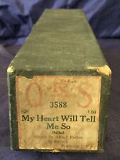 RP2721 Vtg Q.R.S. QRS Word Player Piano Music Roll 3588 My Heart Will Tell Me So