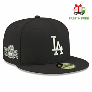 Los Angeles Dodgers 2020 World Series Champions Side Patch 59FIFTY Fitted Hat