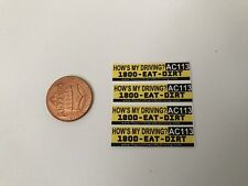 1/10 scale How's My Driving bumper Sticker decals for your r/c car or truck