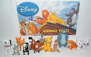 Disney Animal Tales Party Favors Set of 12 Figures Lion King Bambi Jungle Book