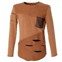 Langer Herren Designer Slim Fit Pullover Sweater | ZT041 | Vintage Ripped Style