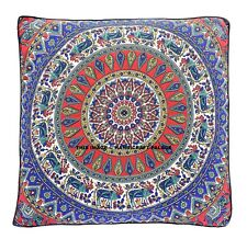 Elephant Print Mandala Floor Pillow Indian Oversized Ottoman Pouf Cover Large