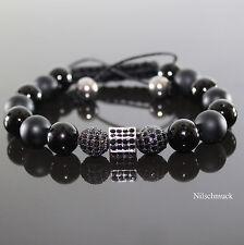 Herren Beads Armband Armreifen Bracelet Biker Perlenarmband Kugelarmband