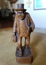"Vintage HoBo Figurine Hand Carved Wood 7"" Barwood"