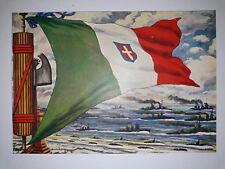 CARTOLINA DEGAMI bandiera marina militare ITALIA MARINARA