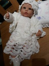 Reborn Doll  or Baby Crochet Dress & Coat Set, Shoes/Booties Hat/Headband