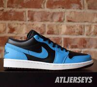 Nike Air Jordan 1 Low Laser Blue Black White 553558-410 Size 7.5-13
