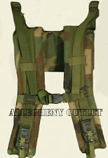 MOLLE II Frame SHOULDER STRAPS with QUICK RELEASE WOODLAND CAMO EXCELLENT