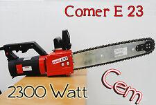 ELETTROSEGA COMER E23 2300W PER TUFO E POROTON 53cm barra con rullo Catena widia