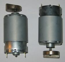 2 X Mabuchi 555 Massager Motor - 12V DC - 4000 RPM - Heavy Vibrator Brass Weight