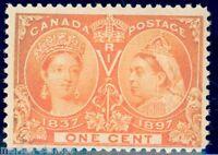 CANADA SC#51 1c JUBILEE MINT NH