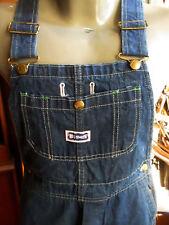 29x30 BIG SMITH Vtg 70s Indigo Blue Denim bibs overalls dungarees chore pants