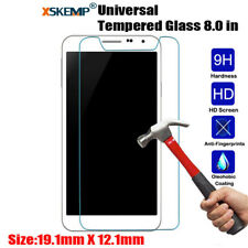 Universal 8 inch Tablet Premium Clear Tempered Glass Screen Protector Cover Film