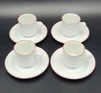 Vintage Set of 4 Bavaria Schumann Arzberg Germany Demitasse Cups & Saucers