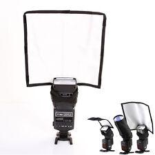 Foldable Speedlight Reflector Snoot Flash Softbox Diffuser Bender Beam