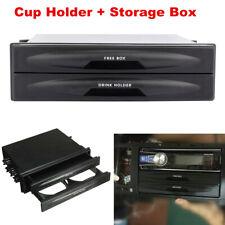 Car Dash Trim Double Din Radio Pocket Kit Drink Cup Holder Storage Box Universal