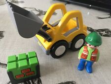 F.W. Playmobil 123 1.2.3 construction Front Loader Tractopelle Jouet & Figure