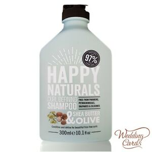 Shea Butter and Olive Curl Defining Shampoo NO Parabens/SLS Happy Naturals 300ml