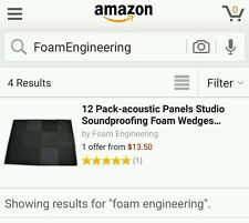 12 pack acoustic foam soundproof tiles for studio recording professonal 1x12x12.