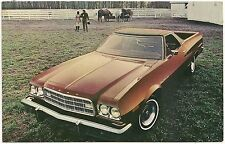 1973 Ford Ranchero Automobile Advertising Postcard