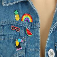 5pcs Lovely Enamel Fruit Collar Pins Badge Corsage Cartoon Brooch Jewelery
