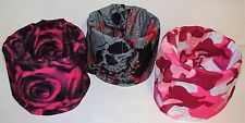 Lot Set 3 Lady Woman Biker Rose Camo Skull Multi Function Head Wear Face Mask