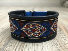 martingale dog collar Italian greyhound whippet lined with leather 1.6'' wide