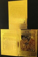 Yugioh Cards Custom 3 Egyptian God Cards Limited Collection Golden Metal Card