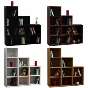 Oxford Bookcase 2 3 4 Tier Cube Shelf Wood Storage Photo Display Furniture Unit