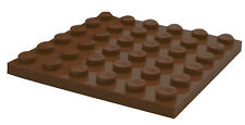 Lego 10 Stück braune (reddish brown) 6x6 Platten (3958) Neu Bauplatten Platte