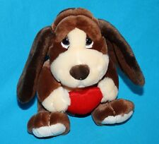 "Russ BAXTER Bashful BASSET HOUND DOG 8"" Red Valentine Heart Plush Stuffed 39304"