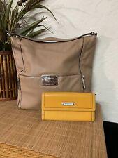 Michael Kors Leather Wallet With Hobo HandBag